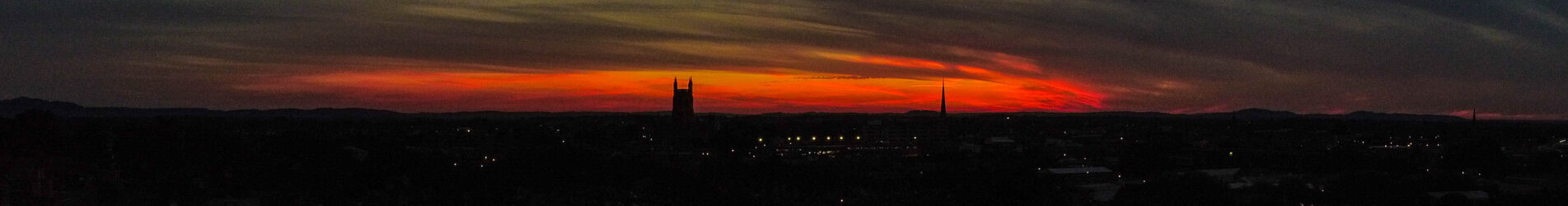 Worcester at Sunset